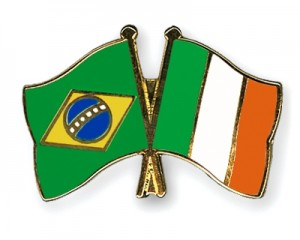 Brazil Ireland Flags 2