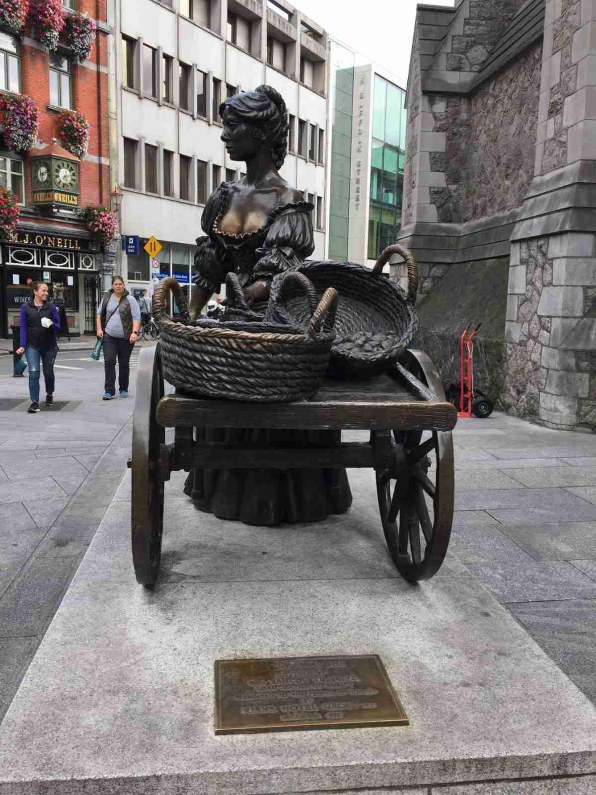 Estatua de Molly Malone Irlanda Dublín Estatua Monumento
