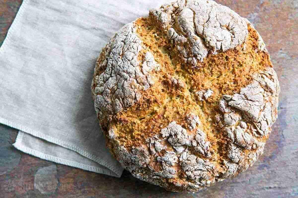 Comida Irlandesa - Soda Bread - Pan de soda irlandés - Pan irlandés